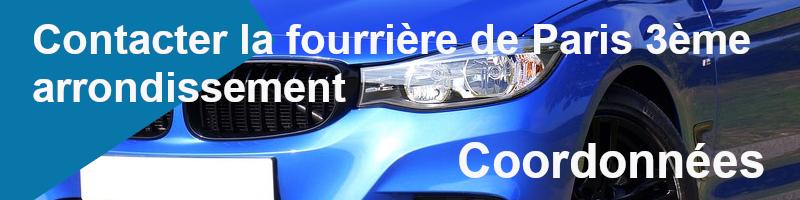contacter fourrière 3ème arrondissement paris