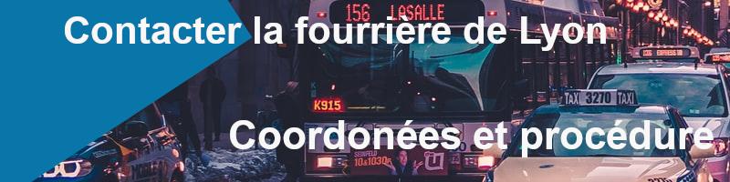 coordonées et procédure fourrière de Lyon