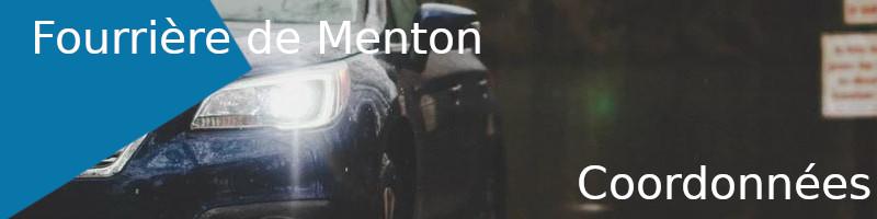 coordonnées fourrière Menton