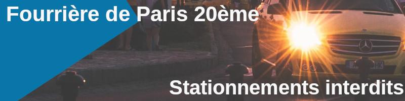 stationnements interdis paris 20ème