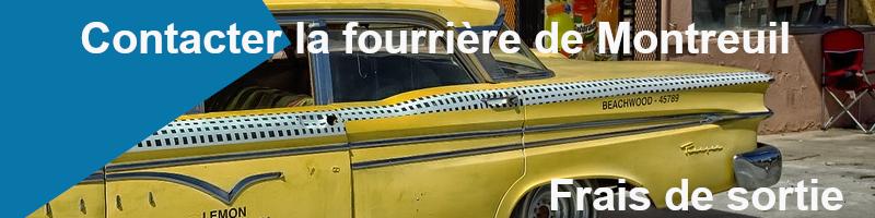 frais de sortie fourrière de Montreuil