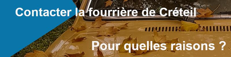 pourquoi ma voiture se trouve à al fourrière de Créteil