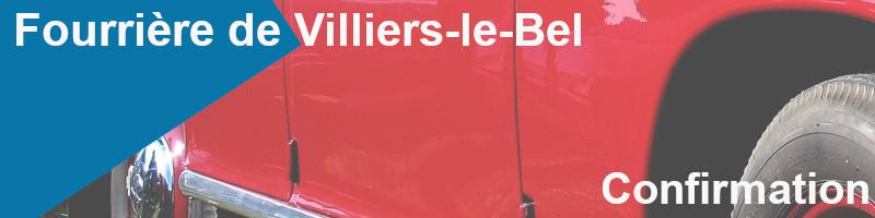 confirmation fourrière villiers-le-bel